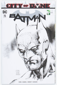 Jim Lee Batman #75 Sketch Cover Variant Original Art (DC, 2019) CGC Signature Series NM+ 9.6 White pages