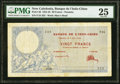 New Caledonia Banque de l'Indochine, Noumea 20 Francs 2.6.1924 Pick 20 PMG Very Fine 25