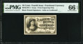 Fractional Currency:Fourth Issue, Milton 4E10F.2 10¢ Fourth Issue Face Cardboard Essay PMG Gem Uncirculated 66 EPQ.. ...