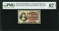 Fractional Currency:Fourth Issue, Fr. 1259 10¢ Fourth Issue PMG Superb Gem Unc 67 EPQ.. ...