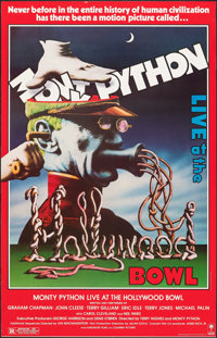 "Monty Python Live at the Hollywood Bowl (Columbia, 1982). Rolled, Fine. Trimmed One Sheet (25"" X 39""). Comedy..."