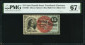 Fractional Currency:Fourth Issue, Fr. 1269 15¢ Fourth Issue PMG Superb Gem Unc 67 EPQ.. ...