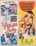 "Movie Posters:Foreign, The Veiled Lady & Other Lot (Banner Productions, Inc., 1956). Rolled, Very Fine-. Inserts (4) (14"" X 36""). Foreign.. ... (Total: 4 Items)"