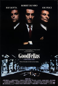 """Goodfellas (Warner Bros., 1990). Rolled, Very Fine. One Sheet (27"""" X 40"""") DS. Crime"""