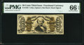 Fractional Currency:Third Issue, Fr. 1328 50¢ Third Issue Spinner PMG Gem Uncirculated 66 EPQ.. ...