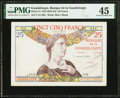 Guadeloupe Banque de la Guadeloupe 25 Francs ND (1934-44) Pick 14 PMG Choice Extremely Fine 45
