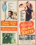 """Movie Posters:Romance, Teacher's Pet & Other Lot (Paramount, 1958). Folded, Fine/Very Fine. Inserts (4) (14"""" X 36""""). Romance.. ... (Total: 4 Items)"""