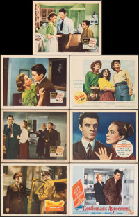 "Twelve O'Clock High & Other Lot (20th Century Fox, 1949). Very Fine-. Lobby Cards (7) (11"" X 14""). War..."