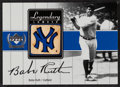 Baseball Cards:Singles (1970-Now), 2000 UD Yankees Legends Legendary Lumber Babe Ruth #BR-LL. ...