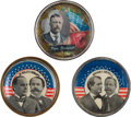 Political:Pinback Buttons (1896-present), William McKinley, William Jennings Bryan and Theodore Roosevelt: Bridle Rosettes....