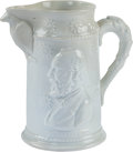 Political:3D & Other Display (pre-1896), James A. Garfield: Soft Paste Pitcher....