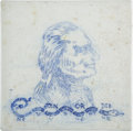 Political:3D & Other Display (pre-1896), [Thomas Jefferson]: Delft-Style Tile. ...