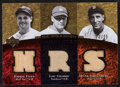 Baseball Cards:Singles (1970-Now), 2007 UD Premier Rare Remnants Triple Relic Foxx/Gehrig/Greenberg #RR3-FGG - Serial Numbered 20/25....