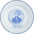 Political:3D & Other Display (pre-1896), William Henry Harrison: Thames Portrait Plate....