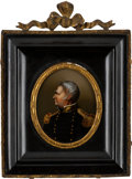 Political:3D & Other Display (pre-1896), Zachary Taylor: Handsome Colored Transfer on Glass Wall Plaque....