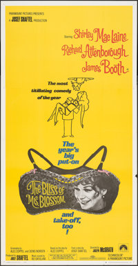 """The Bliss of Mrs. Blossom & Other Lot (Paramount, 1968). Folded, Very Fine. Three Sheets (2) (41"""" X 79"""")..."""