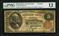 National Bank Notes:Pennsylvania, Philadelphia, PA - $5 1882 Brown Back Fr. 469 The Manayunk National Bank Ch. # 3604 PMG Fine 12.. ...