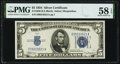 Small Size:Silver Certificates, Fr. 1650 $5 1934 Silver Certificate. E-A Block. PMG Choice About Unc 58 EPQ.. ...