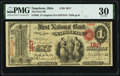 National Bank Notes:Ohio, Napoleon, OH - $1 Original Fr. 382 The First National Bank Ch. # 1917 PMG Very Fine 30.. ...