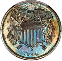 1864 2C Two Cents, Judd-367, Pollock-433, R.8, PR64+ Brown PCGS. CAC....(PCGS# 60537)
