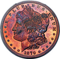 1879 $1 Silver Dollar, Judd-1614, Pollock-1810, Low R.7, PR67 Red and Brown PCGS....(PCGS# 71992)