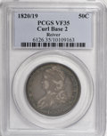 Bust Half Dollars, 1820/19 50C Curl Base 2 VF35 PCGS. Ex: Jules Reiver Collection.PCGS Population (4/41). NGC Census: (0/0). (#6126)...