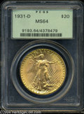 Saint-Gaudens Double Eagles: , 1931-D $20 MS64 PCGS. The Denver Mint produced just 106,...