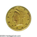 California Fractional Gold: , No Date 50C Indian Round 50 Cents, BG-1079, R.8, Genuine ...