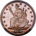 Patterns, 1872 T$1 Commercial Dollar, Judd-1215, Pollock-1356, High R.7, PR65 Cameo PCGS. CAC....