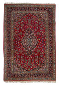 Textiles, A Kashan Carpet. 137 x 93 inches (348.0 x 236.2 cm). ...