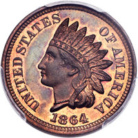1864 1C One Cent, Judd-356A, Pollock-427, Low R.6, PR66+ Red and Brown PCGS. CAC....(PCGS# 70525)