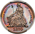 1870 H10C Standard Silver Half Dime, Judd-812, Pollock-900, Low R.7, PR67 Red and Brown PCGS....(PCGS# 71056)