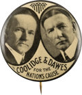 Political:Pinback Buttons (1896-present), Coolidge & Dawes: Key Jugate Rarity with Terrific Slogan. ... (Total: 0 Items)