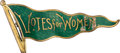 Political:Ribbons & Badges, Woman's Suffrage: Billowing Pennant Enamel Brooch....