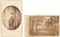 Photography:CDVs, John Wilkes Booth: Assassination Related Cartes-de-Visite.... (Total: 2 Items)