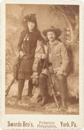 """Photography:Cabinet Photos, May Lillie and """"Pawnee Bill"""": Cabinet Card...."""