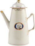 Political:Memorial (1800-present), George Washington: Chinese Export Porcelain Coffee Pot....