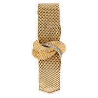 Lady's Gold Covered Dial Watch