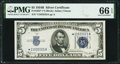 Small Size:Silver Certificates, Fr. 1652* $5 1934B Silver Certificate. PMG Gem Uncirculated 66 EPQ.. ...