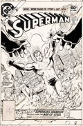 Original Comic Art:Covers, George Perez and Dick Giordano Superman #364 Cover Original Art (DC, 1981)....