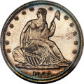Patterns, 1838 P50C Seated Liberty Half Dollar, Judd-80 Restrike, Pollock-87, High R.7, PR65 PCGS....