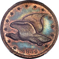 1854 P1C Flying Eagle Cent, Judd-165b Original, Pollock-191, R.8, PR65 Brown PCGS. CAC....(PCGS# 11698)