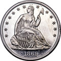 Patterns, 1869 50C Half Dollar, Judd-761, Pollock-846, Low R.7, PR67 Cameo PCGS....