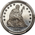 Patterns, 1864 25C Quarter Dollar, Judd-388, Pollock-456, R.8, PR66 Cameo PCGS. CAC....