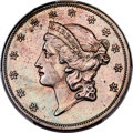 Patterns, 1859 P$20 Twenty Dollar, Judd-258, Pollock-308, High R.7, ...