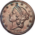 Patterns, 1859 DT$20 Twenty Dollar, Judd-263, Pollock-312, R.8, PR62+ Brown PCGS. CAC....