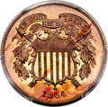 Patterns, 1864 2C Two Cents, Judd-371, Pollock-440, Low R.6, PR66 Cameo PCGS. CAC....