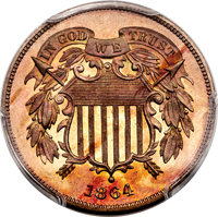 1864 2C Two Cents, Judd-371, Pollock-440, Low R.6, PR66 Cameo PCGS. CAC....(PCGS# 800017)