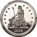 Patterns, 1870 25C Standard Silver Quarter Dollar, Judd-881, Pollock...