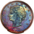 Patterns, 1873 T$1 Trade Dollar, Judd-1283, Pollock-1425, R.7, PR67+ Red and Brown PCGS....
